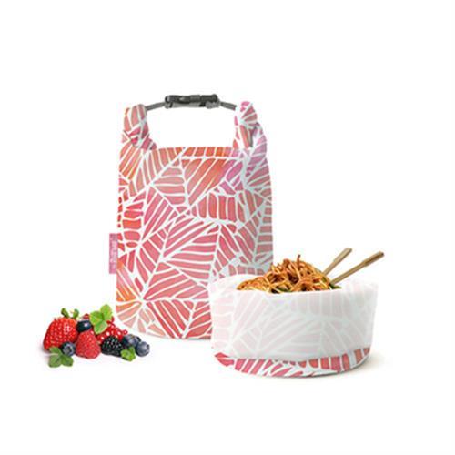 《Roll'eat》西班牙桶裝食物袋15X15X27cm(粉葉)