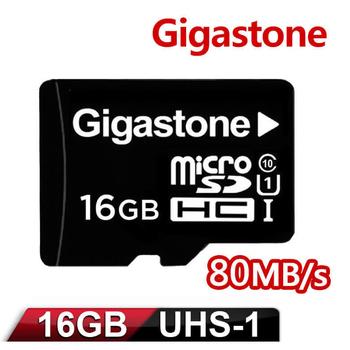 《Gigastone》Gigastone 立達國際 16GB MicroSDXC UHS-I 高速記憶卡(附轉卡)(16GBU1)