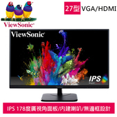 《優派ViewSonic》VA2756-MH 27吋IPS寬螢幕