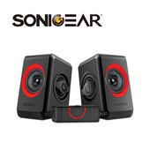 《SonicGear》quatro2強效低頻振膜 多媒體音箱_RD黑紅(Q2-RD)