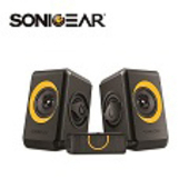 《SonicGear》quatro2強效低頻振膜 多媒體音箱_黑橘OR