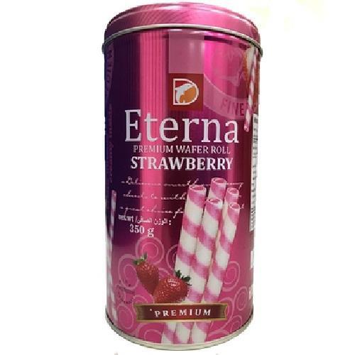《印尼Eterna》爆漿威化捲-350g/罐(草莓風味)