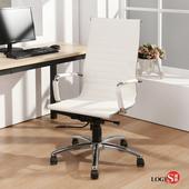 時尚款高背型皮椅 電腦椅 洽談椅 辦公椅 事務椅 椅子 兩色【CPA20】(黑)