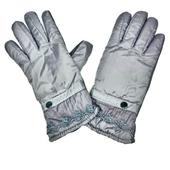 女用防風防潑水保暖加厚手套(灰)