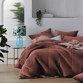 《Sceneast》荷蘭絨鋪棉床包組藕色-雙人四件組 $2680
