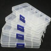 《月陽》10格可拆分雜物收納盒萬用盒藥盒超值4入(PP104)