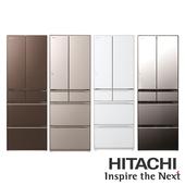 《HITACHI 日立》607公升六門電冰箱-RHW610JJ(RHW610JJ-XW 琉璃白)