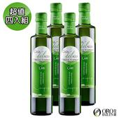 《皇嘉Oro Bailen》頂級款Casa del Agua冷壓初榨橄欖油500ml(超值4入組)