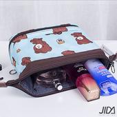 《韓版》第三代多功能防潑水大容量化妝包/收納包(天藍小熊)