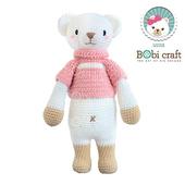 《Bobi》勾針娃娃-米色熊熊-莉絲- Chubby Lizzie(40(H) WT-179ACR-F-L)