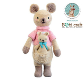 《Bobi》勾針娃娃-袋鼠騎士-Little Knight Kangaroo(34(H) /WT-211BEI-F-M)