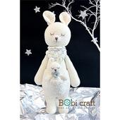 《Bobi》勾針娃娃-袋鼠卡羅-Karo Softie(40(H) /WT-128WHI-F-L)