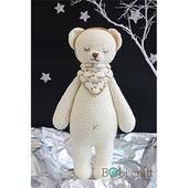 《Bobi》勾針娃娃-熊熊巴比-Bobbie Softie(38(H) /WT-130WHI-M-L)