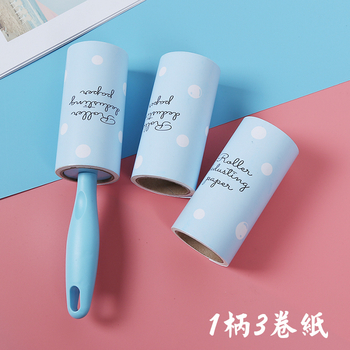 《LINT》新款斜撕式 滾筒除塵黏毛器(1柄3卷紙)(1組)