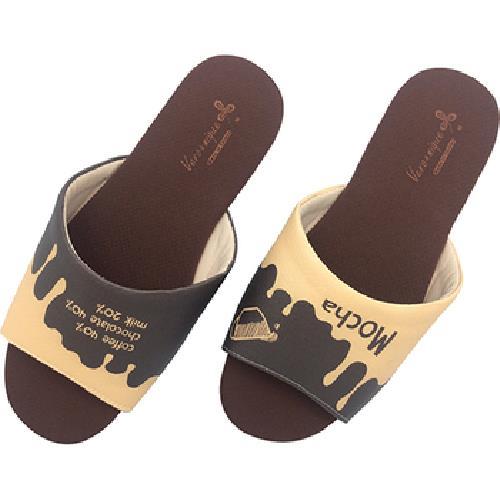 《維諾妮卡》MIT台灣製 幸福咖啡室內拖鞋-摩卡巧克力(M)