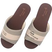《維諾妮卡》MIT台灣製 幸福咖啡室內拖鞋-美式卡其(M)