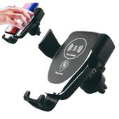 《IS愛思》CA-Q06 定位尋車車用無線充電手機架(黑色)