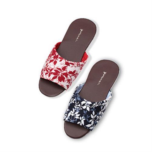 維諾妮卡 MIT台灣製 春風室內皮拖鞋(藍/M-XL)
