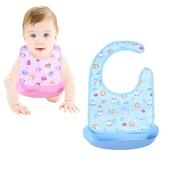 【粉嫩Baby】可拆式寶寶圍兜  (6入組)顏色隨機