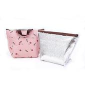 【普普風】 保冰保溫手提袋 便當袋 (6入組)顏色隨機