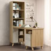 《Homelike》格蕾5尺L型組合書桌櫃