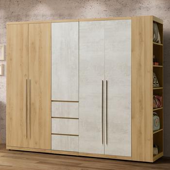 《Homelike》格蕾8尺組合衣櫃