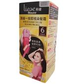《莉婕》莉婕頂級一按即梳染髮霜第一劑 40G 第二劑 40G(6深濃棕色)