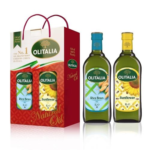 《奧利塔》玄米油葵花油1L雙入組(1Lx2瓶/盒)