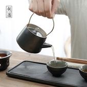 《敘述》日式簡約茶具(杯X3盤X1壺X1燒架X1夾X1布X1)