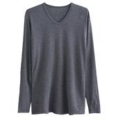 《棉花共和國》肌暖男V領長袖衫-顏色隨機L $289