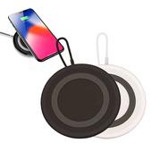 《IS愛思》Qi-P04 超迷你10W快充Qi無線充電盤(黑色)
