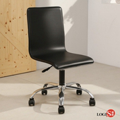 LOGIS-歐維娜鞍皮皮革椅 電腦椅 洽談椅 事務椅 吧椅 C-020A(黑)