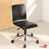 LOGIS非凡曲木 皮墊 事務椅 電腦椅 辦公椅 C-020B(黑)