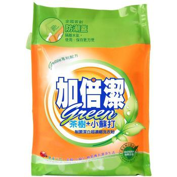 《加倍潔》茶樹+小蘇打制菌潔白 超濃縮洗衣粉 補充包(2kg/袋)