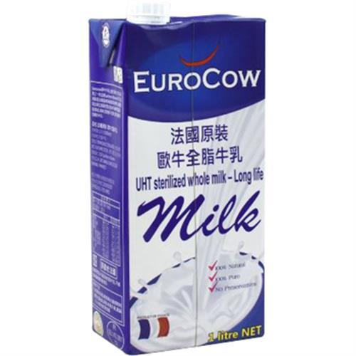 《即期20190611 EuroCow》法國原裝歐牛全脂牛乳(1000ml/瓶)