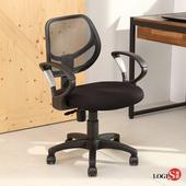 邏爵LOGIS普拉拉PU泡棉墊扶手電腦椅 升降椅 書桌椅 辦公椅 事務椅【C-712】(黑)