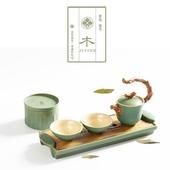 東方之青茶具組(一壺兩杯一盤一茶罐)