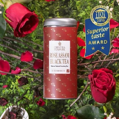《沁意茶苑》玫瑰阿薩姆紅茶(30g/罐)