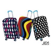 印花彈力行李箱保護套-顏色隨機18-20吋 $159