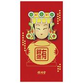 彩色媽祖立體紅包-2入(有錢途)