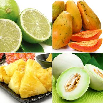 《果之家》果之家 營養滿分水果箱(木瓜+金鑽鳳梨+蜜世界+檸檬)