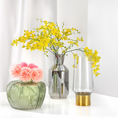 《halla malmo》Sommar 綠葉造型玻璃花瓶小/ 15 cm $399