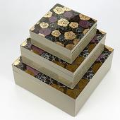《SCENEAST》花漾漆器-12層無毒漆方收納盒小