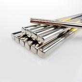 《佶之屋》304不鏽鋼半手工方形筷-長23.5cm-5雙組(一入組)