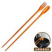 《佶之屋》三合一加長型調理匙叉筷(一入組)