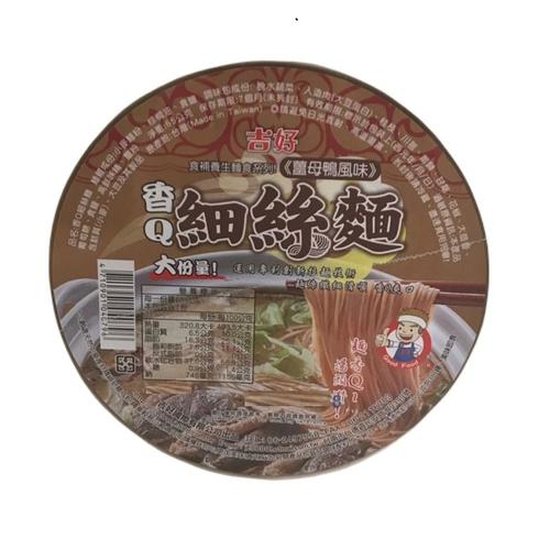 《吉好》香Q細絲麵-65g/碗(薑母鴨風味)