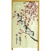 貓頭鷹鴻運招福門簾-款是隨機出貨(85*150cm)