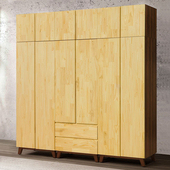 《Homelike》摩卡8x8.5尺大組合衣櫃