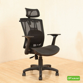 《DFhouse》曼德森-氣墊腰枕辦公椅(黑色)