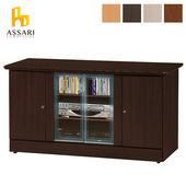 《ASSARI》經典四門4尺電視櫃(寬118*深48*高63cm)(白橡)